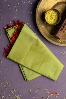 Lime green  Soft Silk saree
