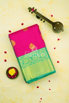 Candy Pink Kanchipuram Silk Saree 1